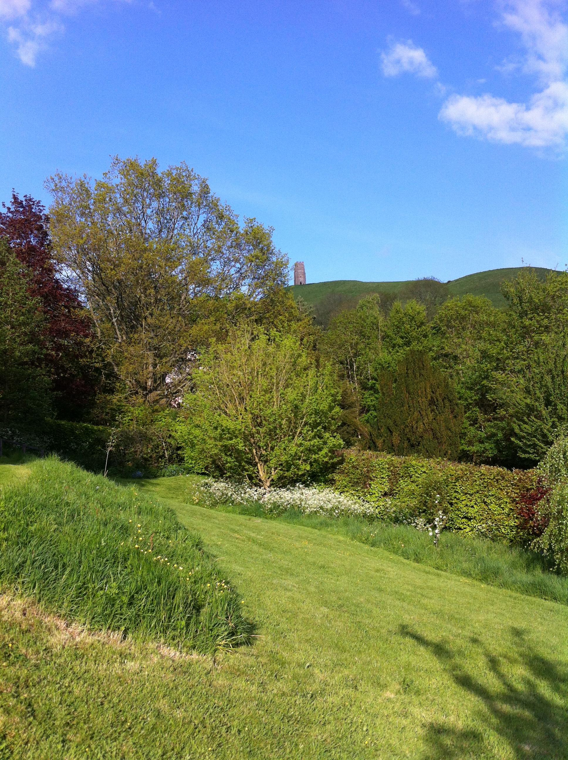 Glastonbury Tor from Chalice Well Garden